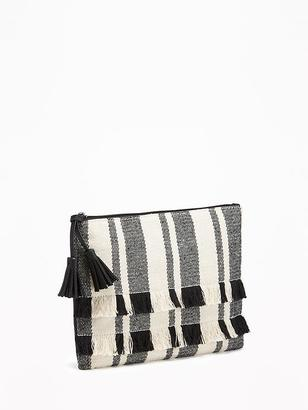 Fringed Zip-Top Clutch for Women $19.94 thestylecure.com