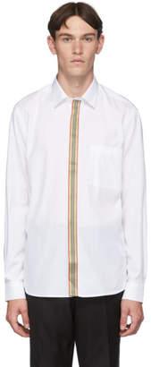 Burberry White Icon Stripe Shirt