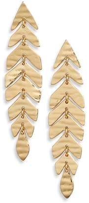 Kate Spade A New Leaf Linear Drop Earrings