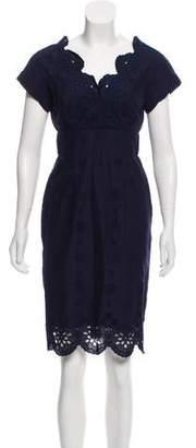 Milly Eyelet Knee-Length Dress