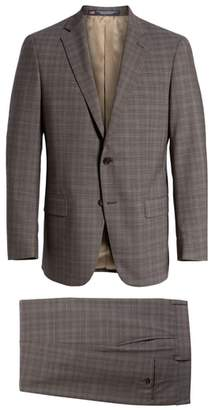 Hart Schaffner Marx Classic Fit Plaid Stretch Wool Suit