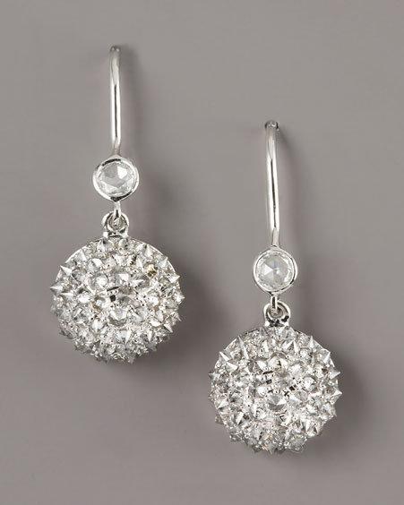 Nam Cho Diamond Half-Ball Earrings