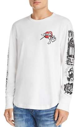 True Religion Long-Sleeve Branded Graphic Tee