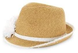 August Hats Frayed Pom-Pom Fedora