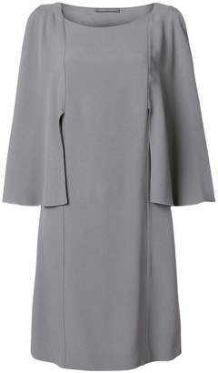 Alberta Ferretti tailored sleeve shift dress