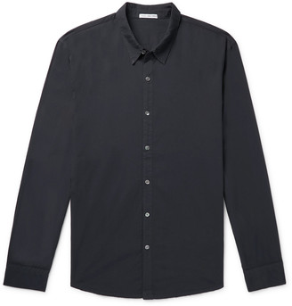James Perse Garment-Dyed Cotton Shirt - Men - Blue