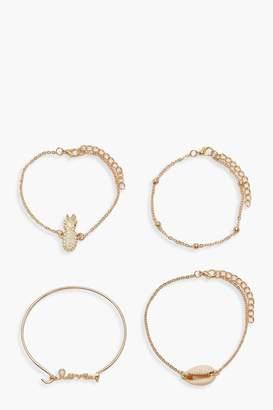 boohoo Shell Summer Bracelet Pack