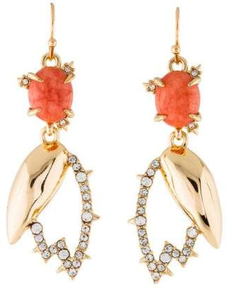 Alexis Bittar Crystal Encrusted Abstract Tulip Drop Wire Earring