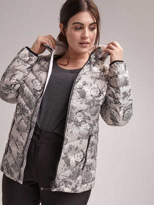 31409882ca5 Plus Size Printed Packable Jacket with Hood - ActiveZone