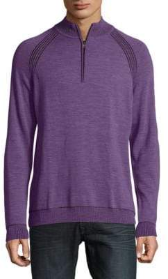 Robert Graham Jovanni Heathered Merino Wool Sweater