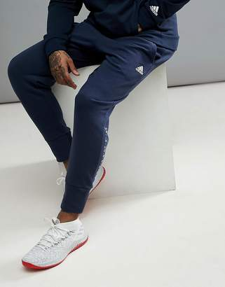 adidas Basketball Dame Joggers In Navy CV7725