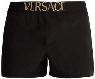 Versace Logo-jacquard swim shorts