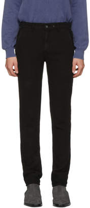 Rag & Bone Black Linen Chino Trousers