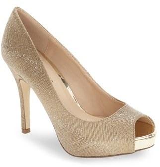 Women's Menbur 'Cabriel' Peep Toe Concealed Platform Pump $79.95 thestylecure.com