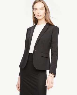 Ann Taylor Tropical Wool One Button Perfect Blazer