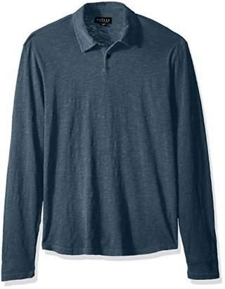 Velvet by Graham & Spencer Men's Karter Long Sleeve Polo Shirt in All Cotton
