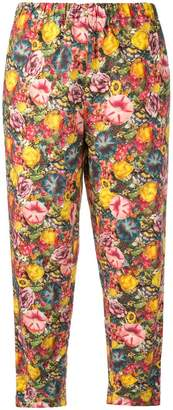 Marni floral drawstring trousers