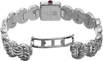 Bruno Magli 20mm Mira Petite Silvertone Square Watch w/ Bracelet Strap