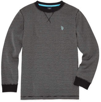 U.S. Polo Assn. USPA Long Sleeve Thermal Top - Big Kid Boys