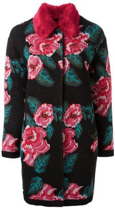 Twin-Set floral intarsia coat $609.35 thestylecure.com