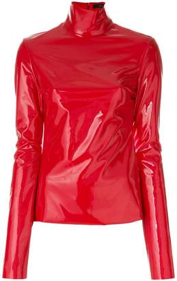 Ellery high shine roll neck top