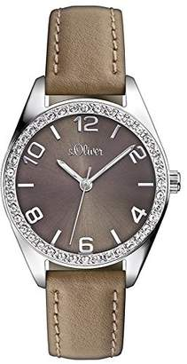 S'Oliver Women's Quartz Watch SO-2547-LQ with Leather Strap