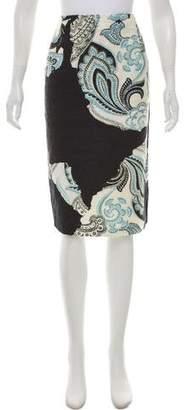 Michael Van Der Ham Printed Knee-Length Skirt