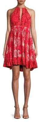 Free People Halterneck Beachday Mini Dress