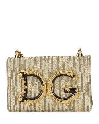 Dolce & Gabbana Girl Baroque Chain Crossbody Bag