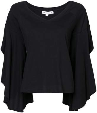 Robert Rodriguez ruffle sleeve top
