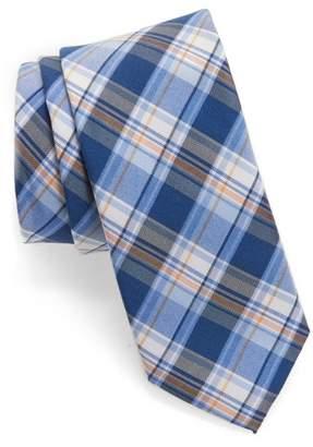Nordstrom Plaid Silk & Cotton Tie