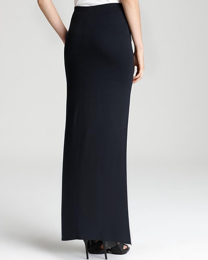 Helmut Lang HELMUT Maxi Skirt - Kinetic Jersey with Slit