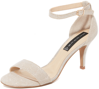 Steven Vienna Metallic Sandals $89 thestylecure.com