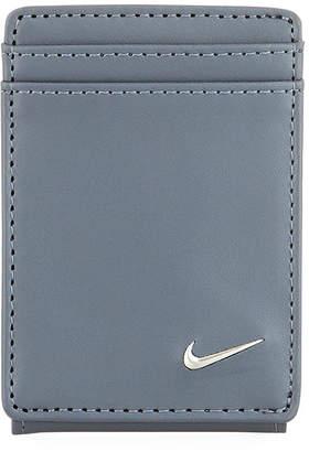 Nike Men's Block Leather Wallet, Grey