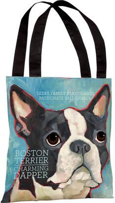 One Bella Casa Boston Terrier Tote
