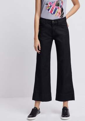 9a78d23a142 Emporio Armani Wide-Fit J33 Jeans In A Blend Of Stretch Denim And Lyocell