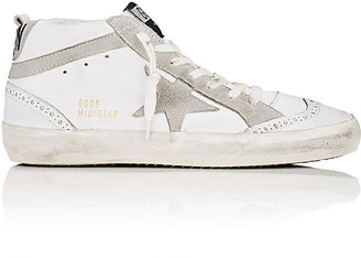 Golden Goose Women's Women's Mid Star Leather & Suede Sneakers $515 thestylecure.com