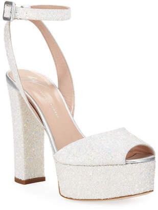 Giuseppe Zanotti Glitter Platform 120mm Sandals