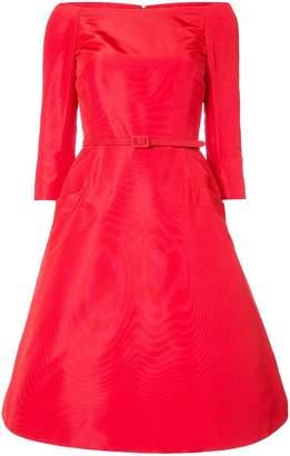 Oscar de la Renta off-the-shoulder flared midi dress