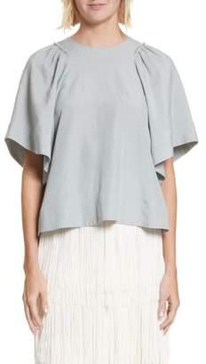 Rachel Comey 'Ravine' Bell Sleeve Silk & Linen Top
