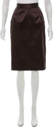 Dolce & Gabbana Satin Pencil Skirt w/ Tags