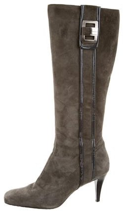 Calvin Klein Knee-High Square-Toe Boots