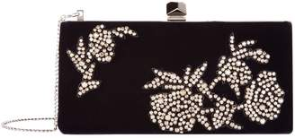 Jimmy Choo Celeste Velvet Floral Embellished Clutch Bag