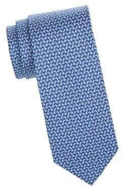 Salvatore Ferragamo Bunnies Wearing Scarves Silk Tie