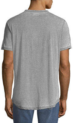 Civil Society Men's Garment Burnout Curve-Hem T-Shirt