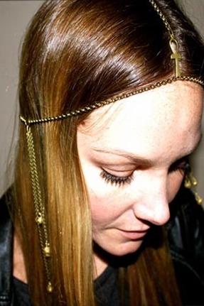 Litter SF Ankh Pendant Head Piece in Antique Brass