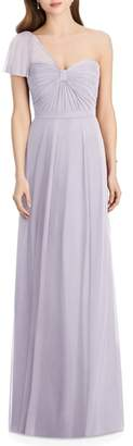 Jenny Packham Pleat One Shoulder Gown