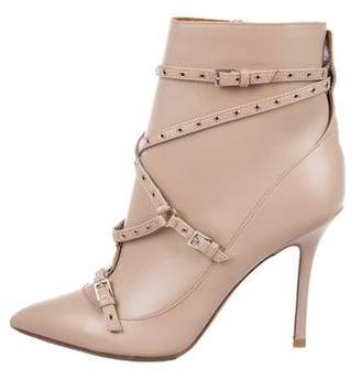 Valentino Embellished Pointed-Toe Boots