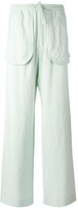 Qasimi external pockets straight trousers