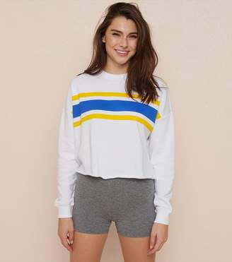 Garage Cropped Crew Neck Sweatshirt
